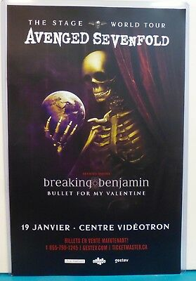 Original POSTER 11x17 AVENGED SEVENFOLD The stage 2018 world tour CONCERT Canada