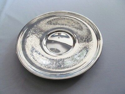 A Sterling Silver Plate Or Tray, Mappin, 191.8 Grams
