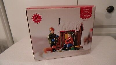 Christmas Village House, Ice Fishing Shanly, By St. Nicholas Square, In Box