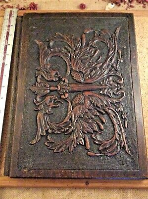 Very Rare 17th Century Wooden Carved Writing Folder Desk Blotter 21 x 10.5 Inch