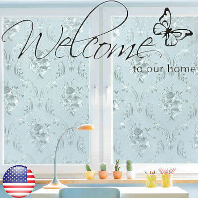 3D 100cm Waterproof Privacy room Bathroom Window Glass Film Sticker 45*500cm