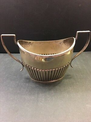 Vintage Mappin & Webb Nickel Silver Plated Sugar Bowl Queen Anne Mid Century