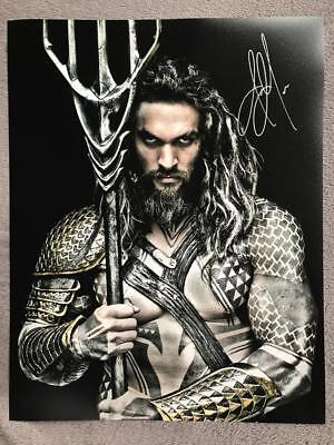 Jason Momoa Signed (11X14) Authentic Autograph COA (Arthur Curry, Aquaman)