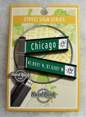 Hard Rock Cafe Chicago 2017 Limited Edition Street Sign Series Pin