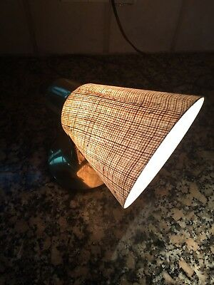 Vintage MCM Wall Sconce, Fiberglass Cone Shade Plug In Or Hardwire