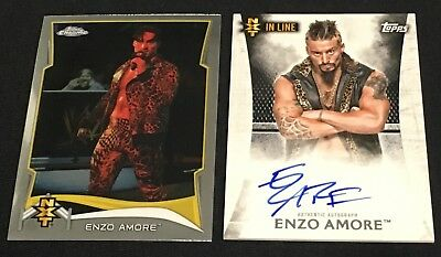 Enzo Amore 2015 Undisputed Rookie Autograph Gem Mint + 2014 Topps Chrome RC WWE