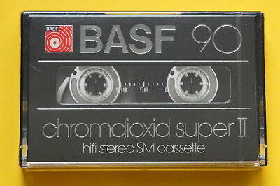 1x BASF chromdioxid super II 90 Cassette Tape 1979 + OVP + SEALED +