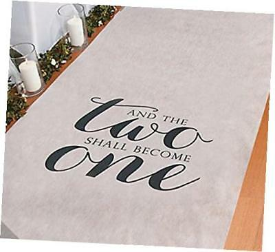 and the two shall become one wedding aisle runner 100 ft x 3 ft wedding aisle