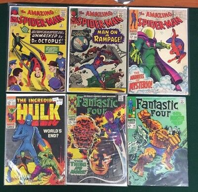 Huge DC Marvel Bronze Silver Age 592 Comic Book Lot Batman Warlock Superman Xmen