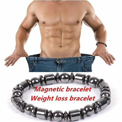 1PC Weight Loss Round Black Stone Magnetic Therapy Bracelet Health Care Noble RU