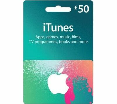 £50 iTunes Gift Card - Physical Item