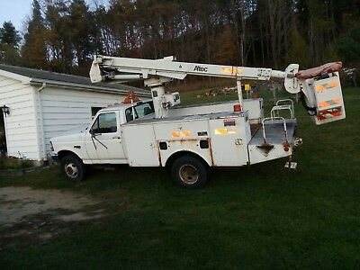 Ford f450 super duty power stroke 7.3 diesel bucket truck 47633 original miles