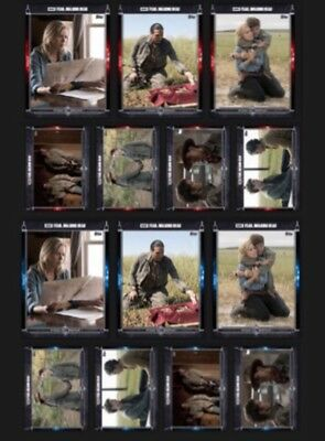 Fear 309 Presale-Red+Blue Set-14 Cards-Topps Walking Dead Trader
