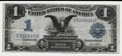Nice 1899 $1 Black Eagle Silver Certificate Large Size Note