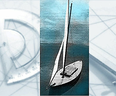 "Model Sailboat PLANS 25"" Radio Control Full Size Printed Plans & building Notes"