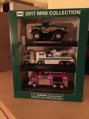 2017 Hess Mini Collection - 3 Mini Hess Trucks In This Set - Brand New!!!!