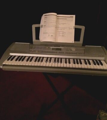 YAMAHA  PSR -290 Silver Keyboard/NEVER USED .WITH STAND AS SHOWN/PLEASE READ