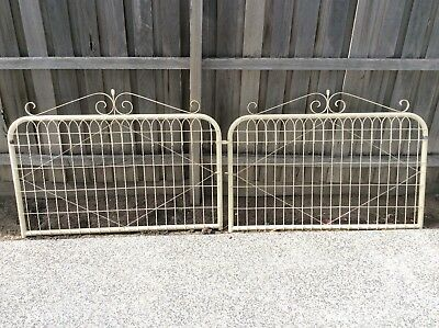 Double Gates, Driveway Vintage Wrought Iron/emu Wire