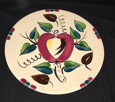 "Purinton APPLE * 12"" ROUND FOOTED CHOP PLATE*"