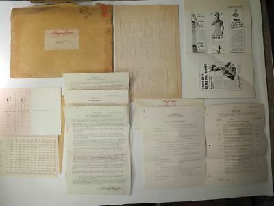 Rare 1954 Large Collection of Stauffer System Weight Loss Treatment Documents