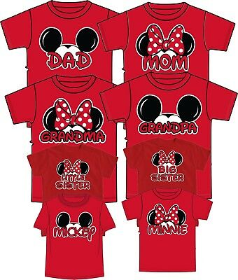 Authentic Mom And Dad And Family Mickey Head Disney funny cute  T-Shirts