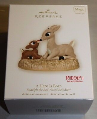 2007 Rudolph The Red Nosed -A Hero Is Born Hallmark Ornament NIB F/ 10000 Pc Lot