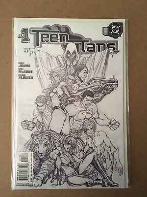 Teen Titans 1 Signed Michael Turner Sketch Variant Vf/Nm