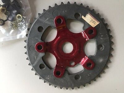 Old School BMX - ADDICKS Chainwheel + Spider + Bolt Kit - NOS - Redline Mongoose