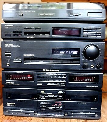 Pioneer Stereo Hifi retro vintage stack system inc turntable No Reserve Superb