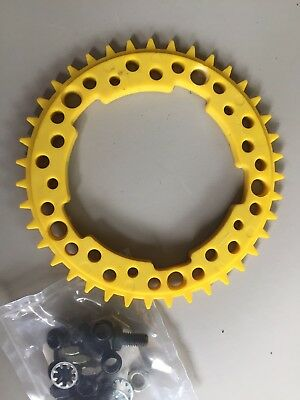 Old School BMX - ADDICKS 39 Tooth Chainring + Bolt Kit - NOS - Redline Mongoose