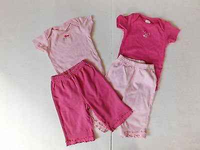 CARTERS Baby Girl Lot of 4 Mix and Match Oufits Pink Pants Ruffles 6 months