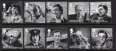 1) GB Stamps 2014  Remarkable Lives Full Set. Good used.