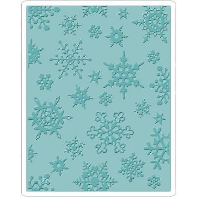 Sizzix Embossing Folder - Tim Holtz Texture Fades - Simple Snowflakes