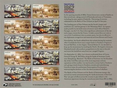 The Civil War 1862Forever Stamp PaneS001359