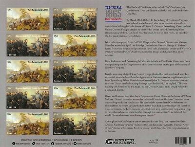 The Civil War 1865Forever Stamp PaneS001361