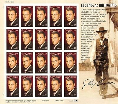 Gary Cooper, Legends Of HollywoodFace $8.80 S001371