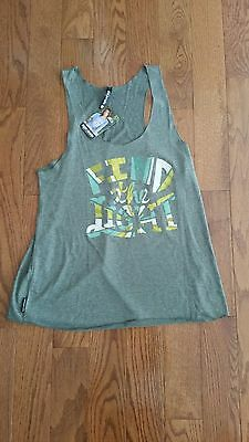 Sugar And Bruno Dance Fitness Gray Tank Top Size Large Find The Light NWT