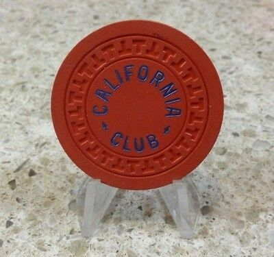 California Club Casino Chip Orange