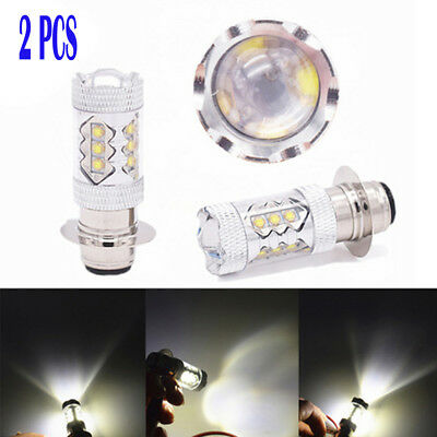 2PCS 80W LED Head Light Bulbs Accessory Fit For Yamaha Banshee 350 Yamaha YFZ450