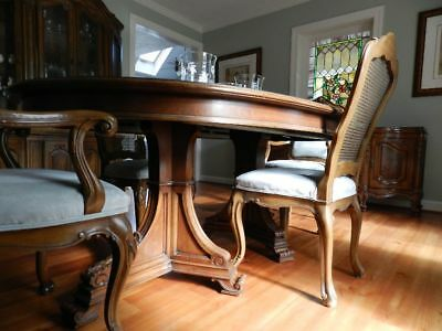 Pick Up In Leesburg Va Karges Hand Made Louis Xv Burled Walnut Table & 6 Chairs