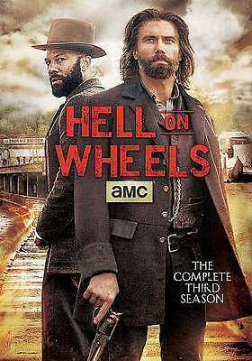Hell on Wheels: The Complete Third Season (DVD, 2014, 3-Disc Set) New Sealed