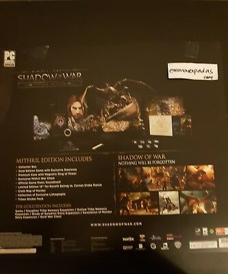 Middle Earth: Shadow of War - Mithril Edition - PC - PAL AU