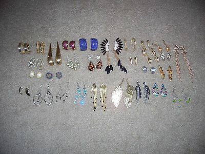 Lot Of 27 Pairs Of Pierced Earrings