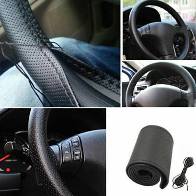 NewPU Leather Car Auto Steering Wheel Cover  DIY 38cm With Needles and Thread