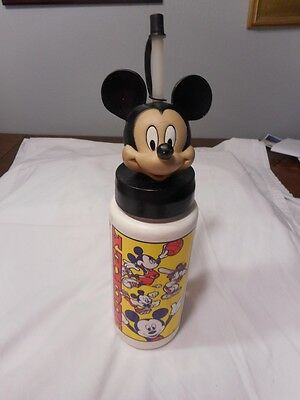 Pre-Owned Mickey Mouse White Sports Water Bottle