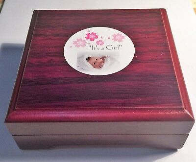 """It's a Girl"" 1/10th OZ 999.0 Fine Silver Gift Coin, C.O.A, in Gift Box, Baby"