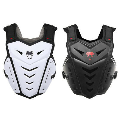 White Black Racing Motorcycle Motocross Vest Chest Protector Body Armor Guard