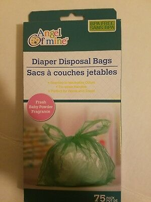 Fresh Baby Powder Scented Diaper Disposal Bags (75 count box) Angel Of Mine