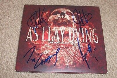 As I Lay Dying - SIGNED The Powerless Rise CD *Band Signed* TIM LAMBESIS