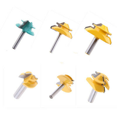 6pcs 1/2'' Shank Lock Miter 45 Degree Glue Joint Router Bits Power Tools